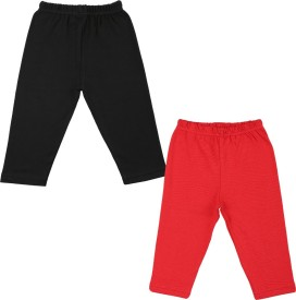 Color Fly Baby Girl's Black, Red Leggings