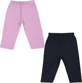 Color Fly Baby Girl's Purple, Dark Blue Leggings Pack Of 2