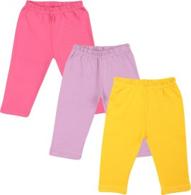 Color Fly Baby Girl's Pink, Purple, White Leggings