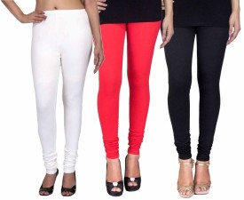 Fashion Flow+ Women's White, Red, Black Leggings