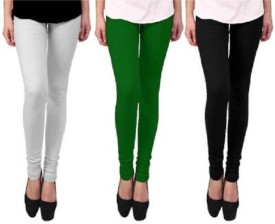 Ayesha Fashion Women's Black, Red, Dark Green Leggings Pack Of 3