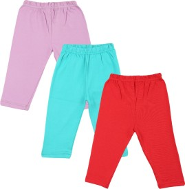 Color Fly Baby Girl's Purple, Red, Green Leggings