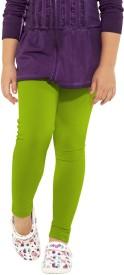 Go Colors Girl's Green Leggings