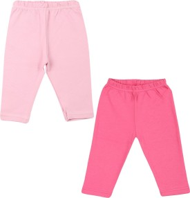 Color Fly Baby Girl's Pink, Pink Leggings Pack Of 2