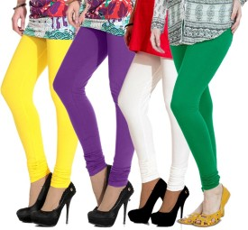 Ngt Women's Yellow, Blue, White, Green Leggings Pack Of 4