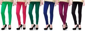 2day Women's Multicolor Leggings Pack Of 6