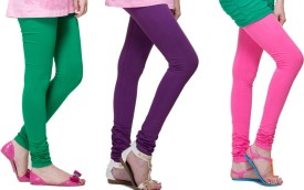 Lienz Women's Green, Purple, Pink Leggings Pack Of 3