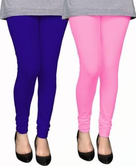 PAMO Women's Blue, Pink Leggings Pack Of 2