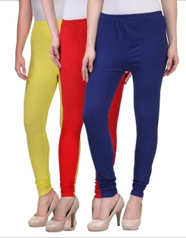 Desi Duos Women's Blue, Red, Yellow Leggings Pack Of 3