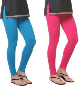 Generation Z Women's Light Blue, Pink Leggings Pack Of 2