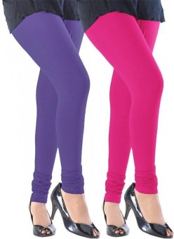 Jaidka Women's Blue, Pink Leggings Pack Of 2