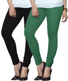 Lux Lyra Women's Black, Green Leggings Pack Of 2