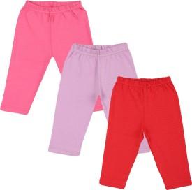 Color Fly Baby Girl's Pink, Purple, Dark Blue Leggings