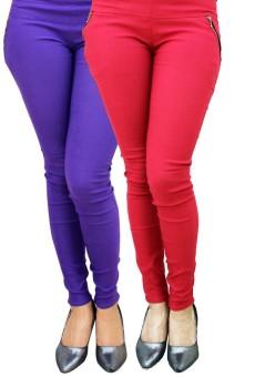 Legemat Women's Blue, Pink Jeggings Pack Of 2