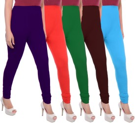 Apple Knitt Wear Women's Maternity Wear Purple, Red, Green, Brown, Blue Leggings Pack Of 5