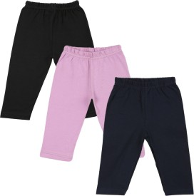 Color Fly Baby Girl's Black, Pink, Yellow Leggings