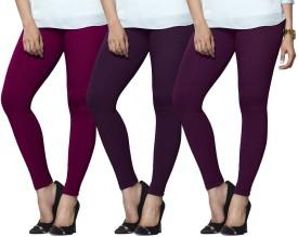 Lux Lyra Women's Purple, Purple, Purple Leggings Pack Of 3