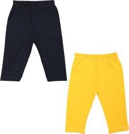 Color Fly Baby Girl's Dark Blue, Yellow Leggings