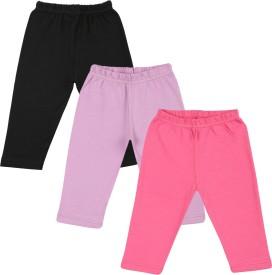 Color Fly Baby Girl's Black, Pink, Purple Leggings