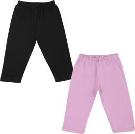 Color Fly Baby Girl's Black, Purple Leggings