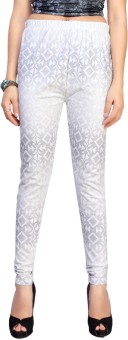 Louis Fashion Women's White, Grey Leggings