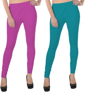 X-Cross Women's Pink, Blue Leggings Pack Of 2 - LJGEHBG2HYYQGMTN