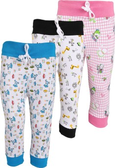 WEECARE Baby Girl's Black, Pink, Blue Leggings Pack Of 3