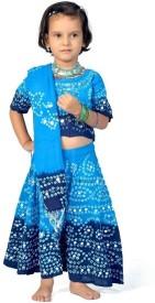 Little India Self Design Baby Girl's Lehenga Choli