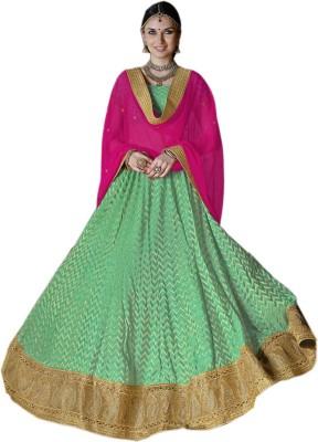 KNP Enterprise Embroidered Women's Ghagra, Choli, Dupatta Set