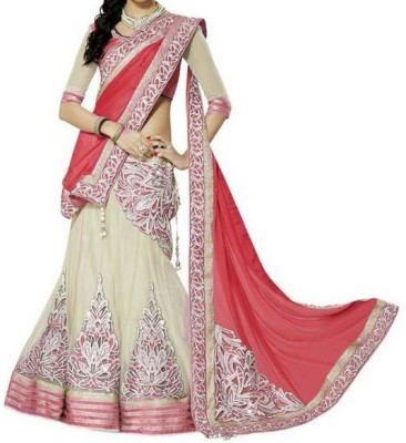 Krisha Enterprise Embroidered Women's Lehenga, Choli and Dupatta Set