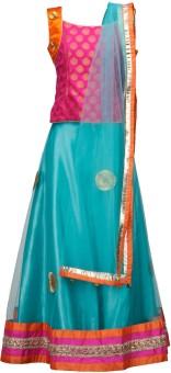 Peaches Self Design Girl's Lehenga Choli