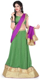 Aastha Sarees Self Design Women's Lehenga, Choli and Dupatta Set