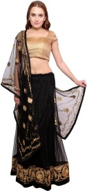 Famous By Payal Kapoor Embroidered Women's Lehenga, Choli and Dupatta Set