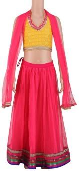Stop By Shoppers Stop Printed Girl's Ghagra, Choli, Dupatta Set