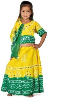 Little India Self Design Girl's Lehenga Choli