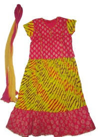 Exclusive from Jaipur Printed Girl's Ghagra Choli