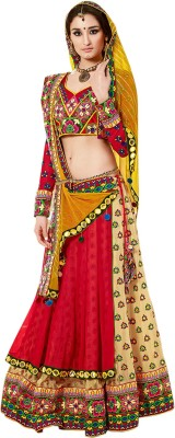Maitri Fashion Embroidered Women's Lehenga, Choli and Dupatta Set