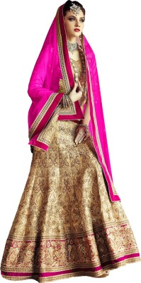 Ty Enterprise Embroidered Women's Lehenga, Choli and Dupatta Set