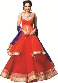 Meena Bazaar Self Design Women Lehenga Choli