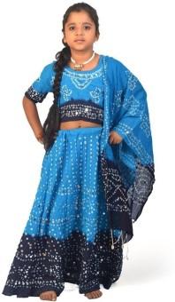Little India Self Design Girl's Lehenga Choli - LCHEYPJ3E6BBQNPY