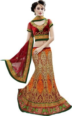 Panth Design Self Design, Embellished Women's Lehenga, Choli and Dupatta Set