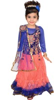 P.R. Creation Embroidered Girl's Ghagra Choli