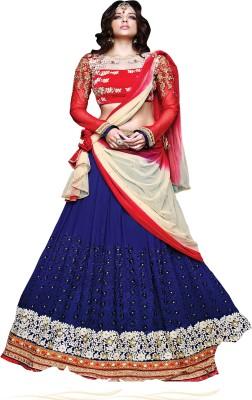 Manvarenterprise Embroidered Women's Lehenga, Choli and Dupatta Set
