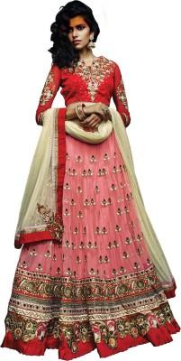 Maulik Enterprise Embroidered Women's Lehenga, Choli and Dupatta Set