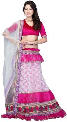 Diva Fashion-Surat Embroidered Women's Lehenga, Choli and Dupatta Set