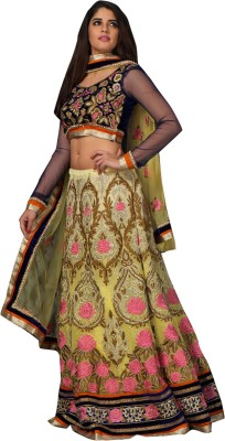 Panth Design Self Design, Embroidered, Embellished Women's Lehenga, Choli and Dupatta Set
