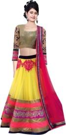 Awesome Fab Embroidered Women's Lehenga, Choli and Dupatta Set