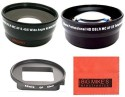 Big Mike S 52Mm 2X Telephoto Lens + 52Mm 0.45X Wide Angle Lens With Macro For Gopro Camera  Lens (Black)