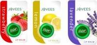 Jovees Lip Balm Combo ( Strawberry, Lemon, Lavender) Strawberry, Lemon, Lavender (15 G)