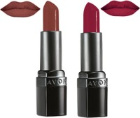 Avon Ultra Color Matte Shades Lipstick (set Of 2 Of 3.8 G Each) 7.6 G (matte Spice, Matte Merlot)
